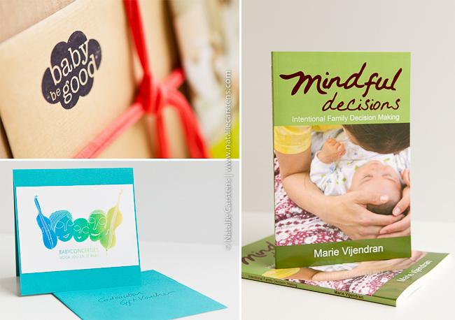 BabyBeGood Doos, Babyconcertjes gift voucher and Mindful Decisions book
