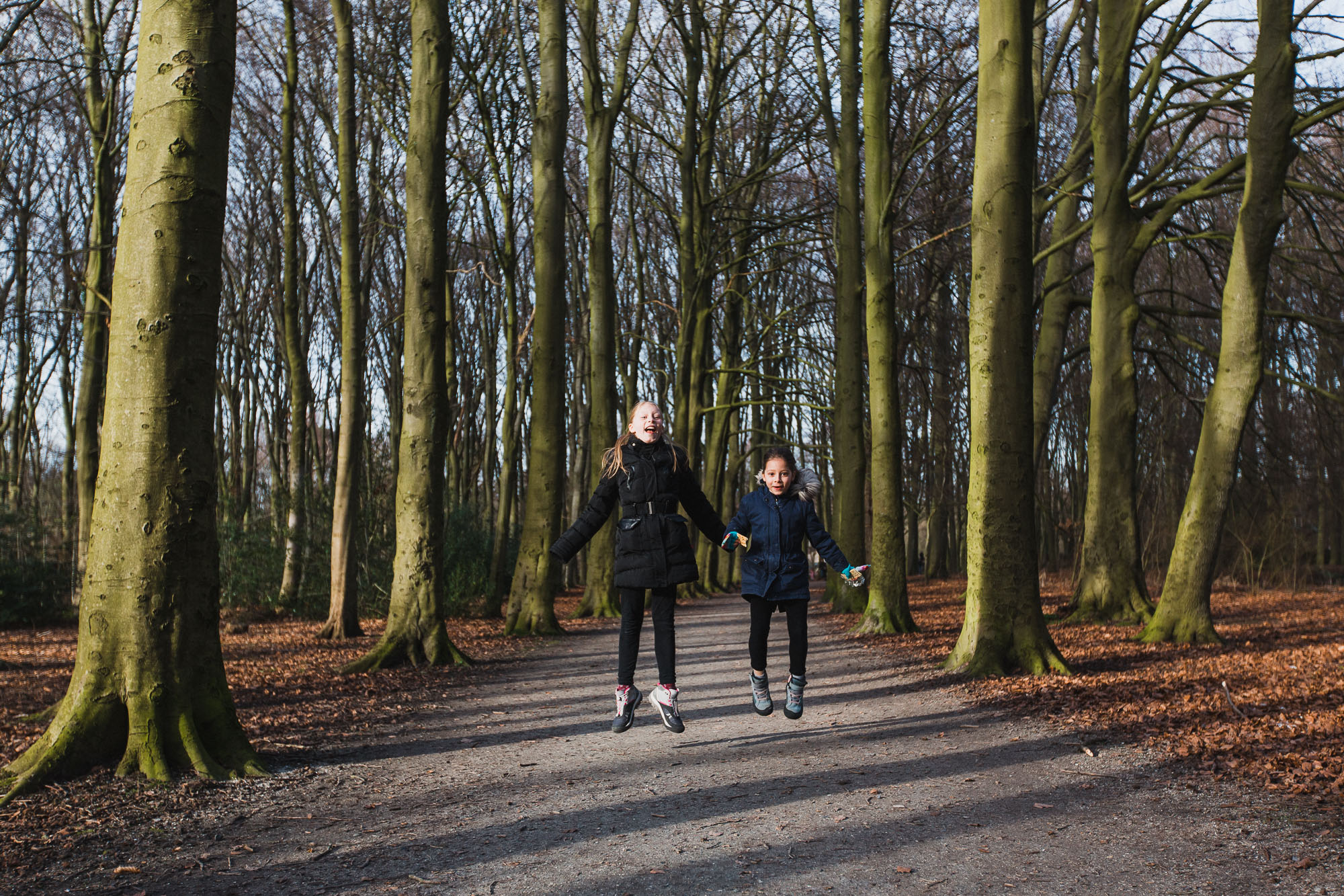 Jumping in the woods, Rijswijk
